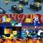 spongbob brain on fire meme