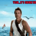 Shark Week...A Raydog and Discovery Channel Event | YEAH...IT'S SHARK WEEK BABY!!! | image tagged in gifs,rob lowe,shark week,sharks,animals,funny | made w/ Imgflip video-to-gif maker