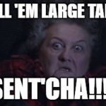 Large Marge | TELL 'EM LARGE TARD SENT'CHA!!!! | image tagged in large marge | made w/ Imgflip meme maker