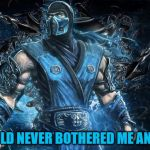 Mortal Kombat Sub-Zero | THE COLD NEVER BOTHERED ME ANYWAY | image tagged in mortal kombat sub-zero | made w/ Imgflip meme maker