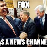 Men Laughing Meme | FOX HAS A NEWS CHANNEL? | image tagged in memes,men laughing | made w/ Imgflip meme maker