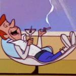 George Jetson relaxing meme