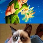 Grumpy Cat Does Not Believe Meme | ALRIGHT TINK LETS STOP BELIEVING AND DIE? | image tagged in memes,grumpy cat does not believe,grumpy cat | made w/ Imgflip meme maker