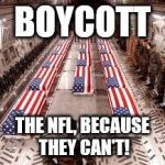 american flag | BOYCOTT THE NFL, BECAUSE THEY CAN'T! | image tagged in american flag | made w/ Imgflip meme maker