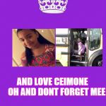 Keep Calm And Carry On Purple Meme | KEEP CALM AND LOVE CEIMONE     OH AND DONT FORGET MEE | image tagged in memes,keep calm and carry on purple | made w/ Imgflip meme maker