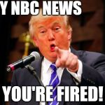 I'm gonna miss Lester Holt | HEY NBC NEWS YOU'RE FIRED! | image tagged in trump point | made w/ Imgflip meme maker