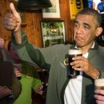 Barack Obama thumbs up beer meme