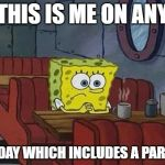 Spongebob Sitting Alone SpongeBob sitti...