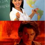 unelpful teacher anakin meme