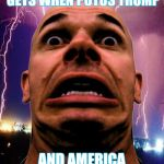 Memeo Meme | THE LOOK THE LEFT GETS WHEN POTUS TRUMP AND AMERICA KEEP WINNING. | image tagged in memes,memeo | made w/ Imgflip meme maker