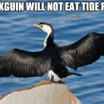 Duckguin | DUCKGUIN WILL NOT EAT TIDE PODS | image tagged in duckguin | made w/ Imgflip meme maker