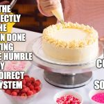 Cake Decoration | AIMING THE NOZZLE DIRECTLY INTO THE MOUTH WHEN DONE DECORATING CONVERTS THE HUMBLE PASTRY BAG INTO A DIRECT DELIVERY SYSTEM I WOULD NEVER OF | image tagged in cake decoration | made w/ Imgflip meme maker