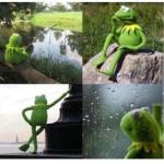 blank kermit waiting meme