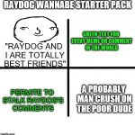 "*Breath in* *Breath Out* WHY, LORD! | RAYDOG WANNABE STARTER PACK ""RAYDOG AND I ARE TOTALLY BEST FRIENDS"" GREEN TEXT FOR EVERY MEME OR COMMENT IN THE WORLD PERMITE TO STALK RAYDO 