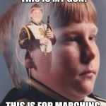 PTSD Clarinet Boy Meme | THIS IS MY CLARINET! THIS IS MY GUN! THIS IS FOR MARCHING BAND! THIS IS FOR FUN! | image tagged in memes,ptsd clarinet boy,full metal jacket | made w/ Imgflip meme maker