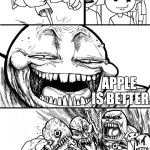 It always was anyway.. | HEY SAMSUNG USERS APPLE IS BETTER | image tagged in hey x y | made w/ Imgflip meme maker
