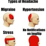 I Need Help... | No Notifications on Imgflip | image tagged in headaches,memes,imgflip | made w/ Imgflip meme maker