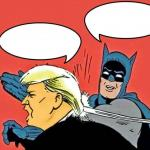 Batman Slapping Trump meme