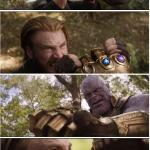 CAP VS THANOS meme