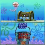 krusty krab vs chum bucket  meme