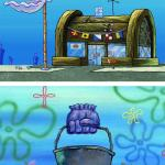 Krusty Krab Vs Chum Bucket Blank meme
