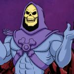 Skeletor making a point meme