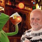 Harold and Kermit at the Oasis Lounge meme