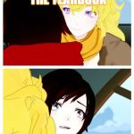 rwby | I WILL BUY YOU THE YEARBOOK CHOCOLATE!!! | image tagged in rwby | made w/ Imgflip meme maker