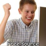 If only he knew the Internet isn't free AND not that reliable as he thought.  | Oh heck yeah! Free source of information! | image tagged in memes,first day on the internet kid | made w/ Imgflip meme maker