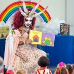 satanic drag queen teaches children/kids meme