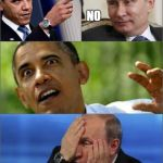 Obama v Putin | PULL MY FINGER                                                                                                            NO GREAT.. YET ANO | image tagged in obama v putin | made w/ Imgflip meme maker