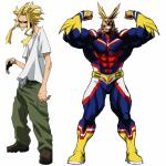 My Hero Academia All Might Weak vs Strong meme