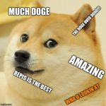 Doge Meme | MUCH DOGE THE DOGE OVER 9000!!! AMAZING BEPIS IS THE BEST WHA U LOOKIN AT | image tagged in memes,doge | made w/ Imgflip meme maker