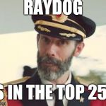 Captain Obvious | RAYDOG IS IN THE TOP 250 | image tagged in captain obvious | made w/ Imgflip meme maker