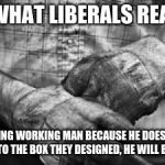 HARD WORK | THIS IS WHAT LIBERALS REALLY FEAR, A GOD FEARING WORKING MAN BECAUSE HE DOESN'T FEEL THE NEED TO FIT INTO THE BOX THEY DESIGNED, HE WILL BUI | image tagged in hard work | made w/ Imgflip meme maker
