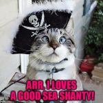 Spangles Meme | ARR, I LOVES A GOOD SEA SHANTY! | image tagged in memes,spangles | made w/ Imgflip meme maker