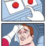 Two Buttons Meme | DISAGREE WITH FB ON POLITICAL POST GOING ALONG WITH IT AND TREAT ANY MISINFORMATION AS TRUTH | image tagged in memes,two buttons | made w/ Imgflip meme maker
