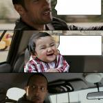 Rock drives evil toddler meme