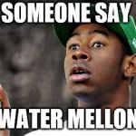 Baron Creater Meme | SOMEONE SAY WATER MELLON | image tagged in memes,baron creater | made w/ Imgflip meme maker