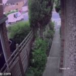 Garden Gnome Thief Instant Karma | INSTANT KARMA! | image tagged in gifs,instant karma,garden gnome thief,drunk thief falls through fence | made w/ Imgflip video-to-gif maker