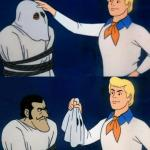 Scooby doo mask reveal meme