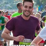 Ridiculously Photogenic Guy Meme | RUNS OVER CONCRETE STARTS NEW RELIGION | image tagged in memes,ridiculously photogenic guy | made w/ Imgflip meme maker
