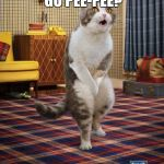 Gotta Go Cat Meme | YOU GOTTA GO PEE-PEE? YEAH, YOU KNOW ME! | image tagged in memes,gotta go cat | made w/ Imgflip meme maker