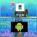Phone users | image tagged in krusty krab vs chum bucket,technology | made w/ Imgflip meme maker
