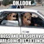 Quit Hatin Meme | OH LOOK MY BOSS AND HER SUPERVISOR ARE GOING OUT TO LUNCH | image tagged in memes,quit hatin | made w/ Imgflip meme maker