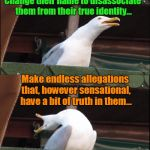 "Inhaling Seagull Meme | Take ""This People"" you hate... Change their name to disassociate them from their true identity... Make endless allegations that, however sen 