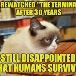 "Inspired by superdenni | JUST REWATCHED ""THE TERMINATOR"" AFTER 30 YEARS STILL DISAPPOINTED THAT HUMANS SURVIVED 