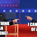 Obama Romney Pointing Meme | I CANT THINK OF A  RAP! I CANT THINK OF AN 80S SONG! | image tagged in memes,obama romney pointing | made w/ Imgflip meme maker