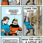 "Open the gate a little | IT'S MUSIC! IT'S JUSTIN BIEBER HE'S SINGING ""DESPACITO"" 