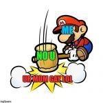 Mario Hammer Smash Meme | ME UR MUM GAY LOL NO U | image tagged in memes,mario hammer smash | made w/ Imgflip meme maker